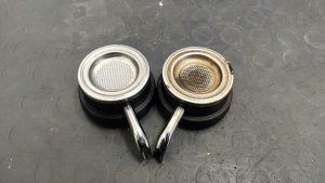 filtrini macchina a cialde a confronto pulito vs incrostato